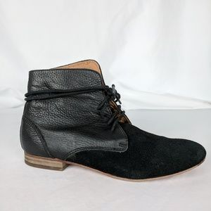 Anthropologie Gee Wawa Black Chukka Boots